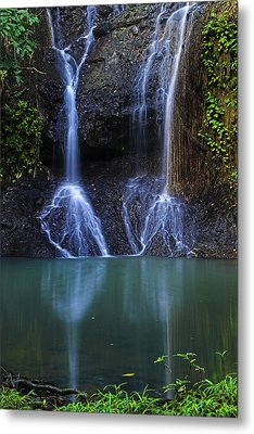 Metal Print featuring the photograph Waterfall- Micoud- St Lucia by Chester Williams