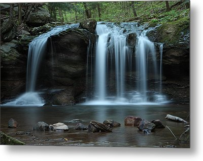 Waterfall On Flat Fork Metal Print