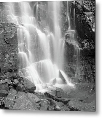 Waterfalls At Chimney Rock State Park Metal Print by Holden Richards