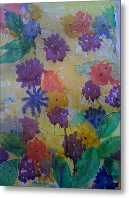 Waterflowers Metal Print by Judi Goodwin