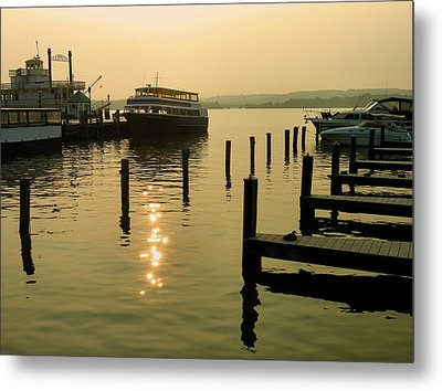 Waterfront Docks Metal Print by Steven Ainsworth