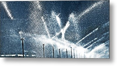 Watering Day Metal Print