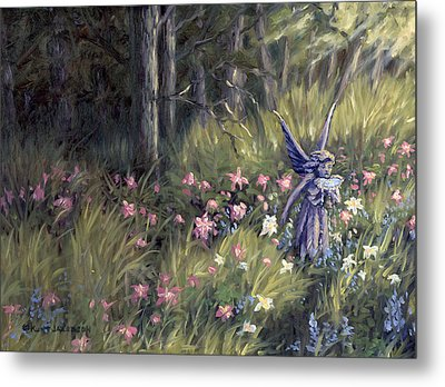 Watering The Flowers Metal Print by Kurt Jacobson