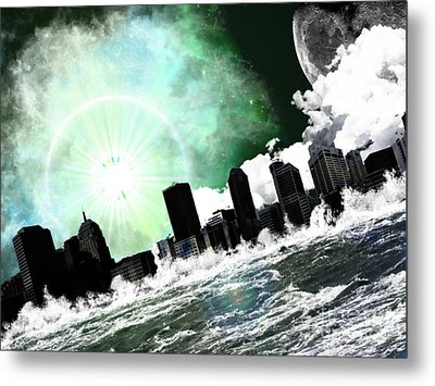 Waterising Metal Print
