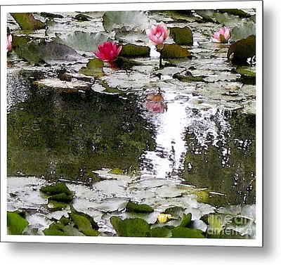 Metal Print featuring the digital art Waterlilies by Victoria Harrington