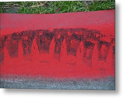 Watermelon Curb Metal Print