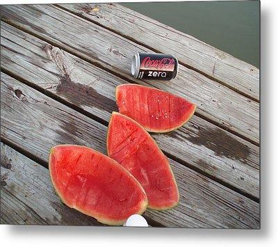Watermelon Rinds Metal Print by Charles Weinacker