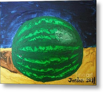 Watermelon Still Life Metal Print by Jeannie Atwater Jordan Allen