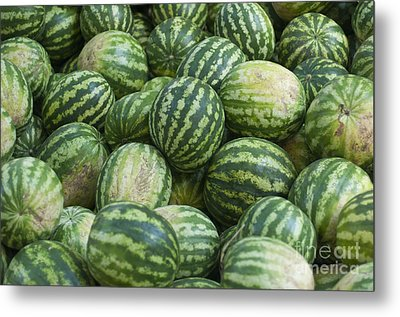 Metal Print featuring the photograph Watermelons by Andrew  Michael