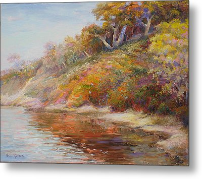 Metal Print featuring the painting Waters Edge by Bonnie Goedecke