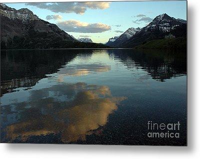 Waterton Lake Sunset Canada Metal Print by Vivian Christopher