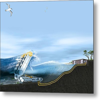Wave Energy Converter, Artwork Metal Print by Claus Lunau