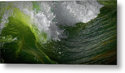 Metal Print featuring the photograph Wave In Motion by Atom Crawford