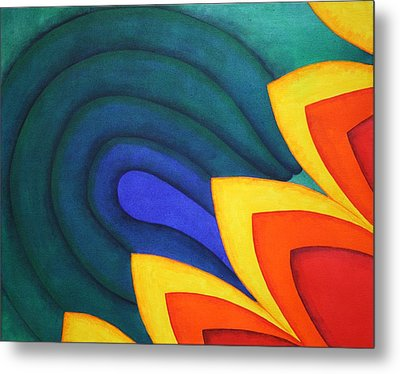 Waves And Tails Metal Print