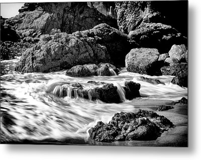 Waves On Leo Carillo State Beach Metal Print by Ken Wolter