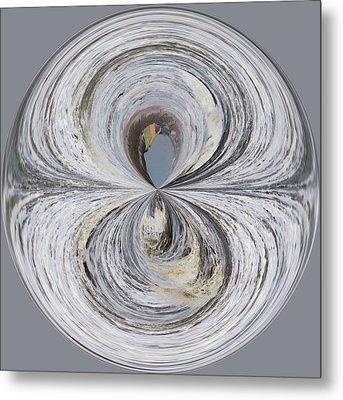 Waves Orb Metal Print