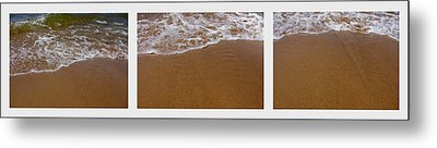 Waves Triptych Metal Print by Michelle Calkins