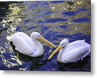 We Share A Heart Metal Print by DiDi Higginbotham