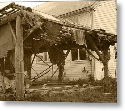 Weathered And Blown To Pieces Metal Print by Kym Backland