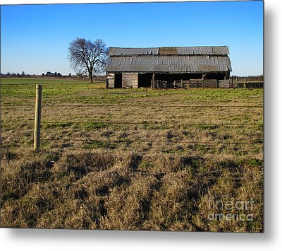 Weathered And Worn Metal Print by Ann Powell