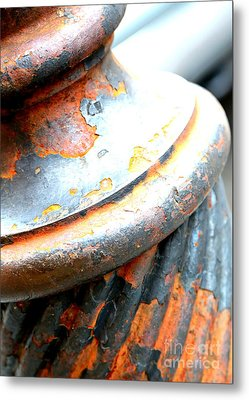 Weathered Column  Metal Print by Carol Groenen