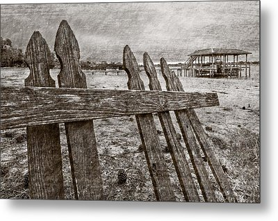 Weathered Metal Print by Debra and Dave Vanderlaan