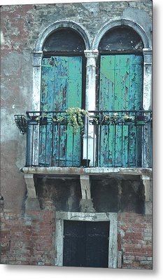 Metal Print featuring the photograph Weathered Venice Porch by Tom Wurl