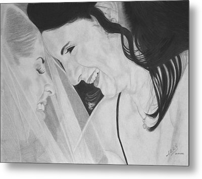 Wedding - Daughter And Mother Blessing Metal Print by Miguel Rodriguez