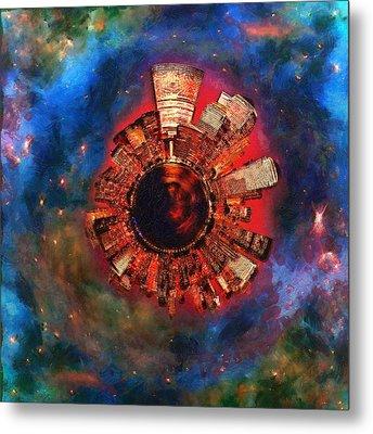 Wee Manhattan Planet - Artist Rendition Metal Print by Nikki Marie Smith