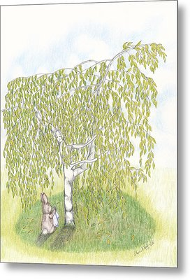 Weeping Birch Metal Print by Elaine Read-Cole