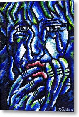Weeping Child Metal Print by Kamil Swiatek