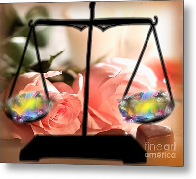 Weighing Beauty Metal Print by Belinda Threeths