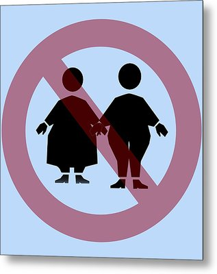 Weight Discrimination, Computer Artwork Metal Print