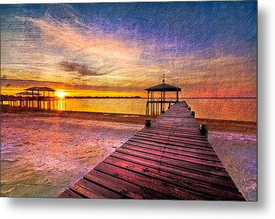 Welcome The Morning Metal Print by Debra and Dave Vanderlaan
