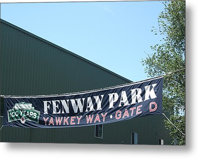 Welcome To Fenway Park Metal Print by Stephen Melcher