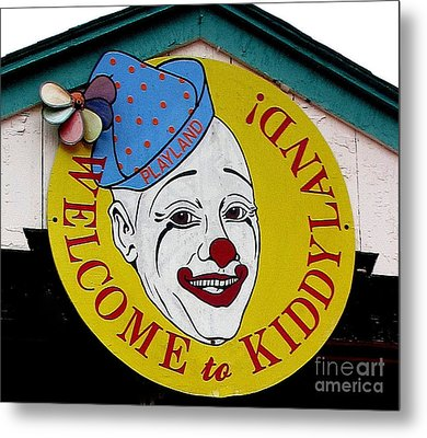 Welcome To Kiddyland Metal Print by Maria Scarfone