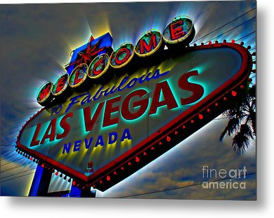 Welcome To Las Vegas Metal Print by Kevin Moore