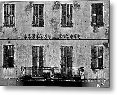 Metal Print featuring the photograph Welcome To The Hotel Milano by Andy Prendy