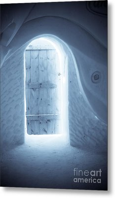 Welcome To The Ice Hotel Metal Print by Sophie Vigneault