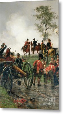 Wellington At Waterloo Metal Print by Ernest Crofts
