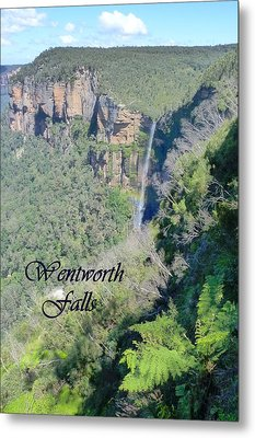 Wentworth Falls Metal Print by Carla Parris