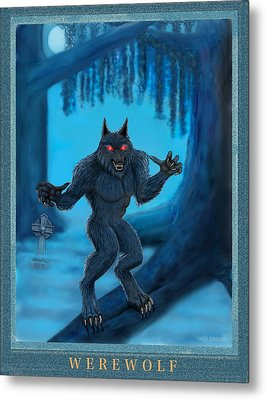 Werewolf Metal Print by Glenn Holbrook