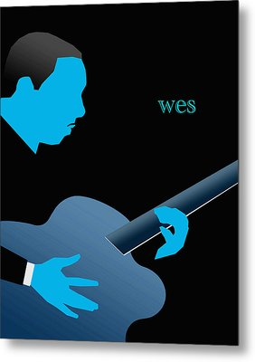 Wes Montgomery Blue Metal Print by Victor Bailey