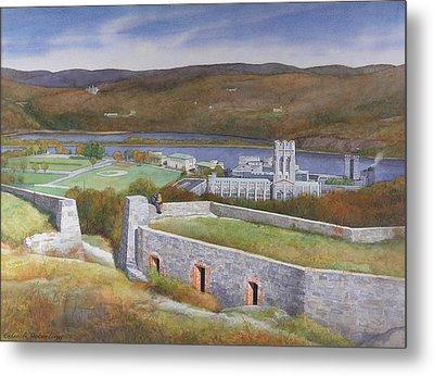 West Point From Fort Putnam  Metal Print by Glen Heberling