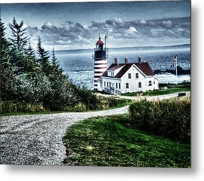 West Quoddy Lighthouse Metal Print by Kelly Reber