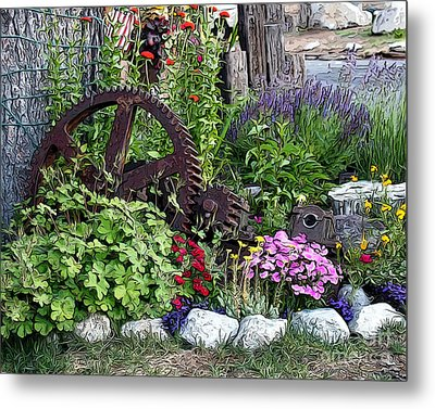 Metal Print featuring the photograph Western Garden by Anne Raczkowski
