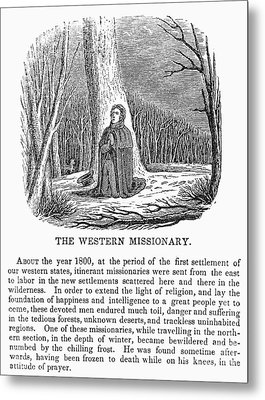 Western Missionary Metal Print by Granger