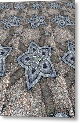 Western Star Tile Metal Print by Michelle Frizzell-Thompson