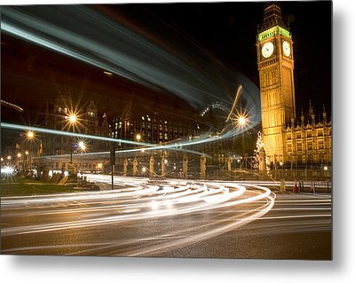 Westminster Lights Metal Print by Copyright Michael Spry