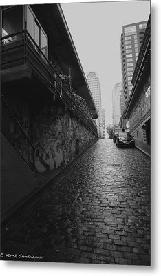 Metal Print featuring the photograph Wet Cobbles by Mitch Shindelbower